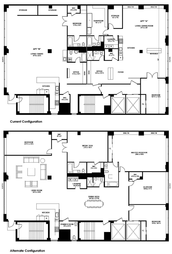 361 west 36th street fashion center midtown west nyc for 1200 post oak floor plans