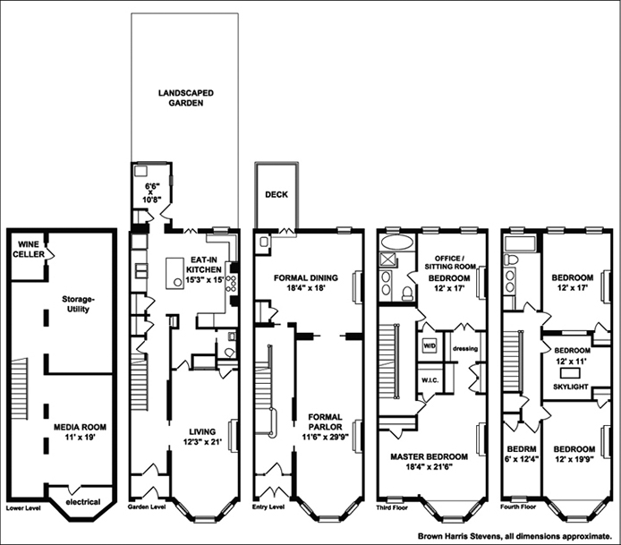 Nyc Brownstone Floor Plans Nyc Brownstone Floor Plans