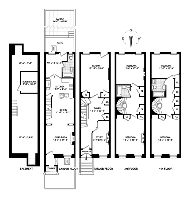 Nyc brownstone floor plans new york city brownstone for New york house plans