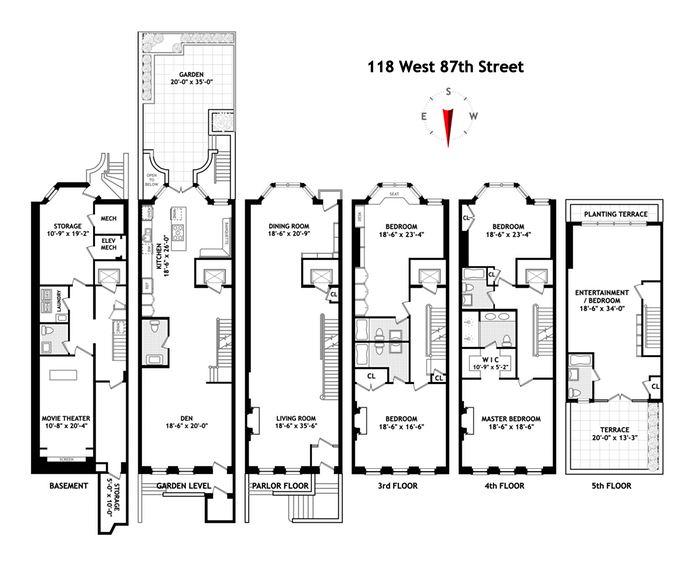 Brownstone floor plans new york city new york city for Gt issa floor plans