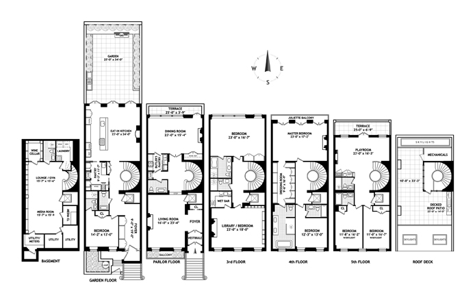 New York City Brownstone Floor Plans