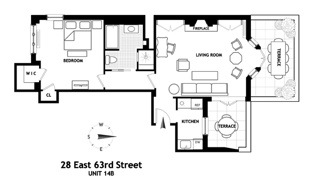 Apartments / Residences for Rent at 28 EAST 63RD STREET 14B New York, New York,10065 United States