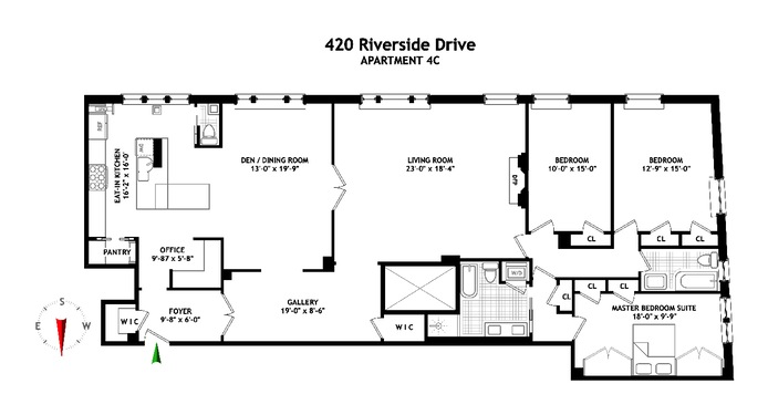 Additional photo for property listing at 420 RIVERSIDE DRIVE  New York, Нью-Йорк,10025 Соединенные Штаты