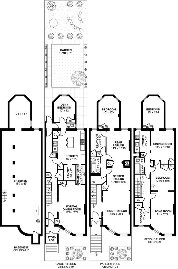 typical brownstone floor plan brownstone row house floor