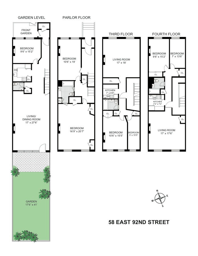 Additional photo for property listing at 58 East 92nd Street  New York, Нью-Йорк,10128 Соединенные Штаты