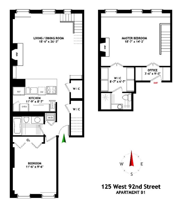 125 west 92nd street b1 upper west side new york for 1200 post oak floor plans