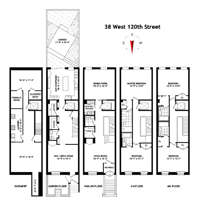 Single Family Home for Sale at 38 WEST 120TH STREET New York, New York,10027 United States