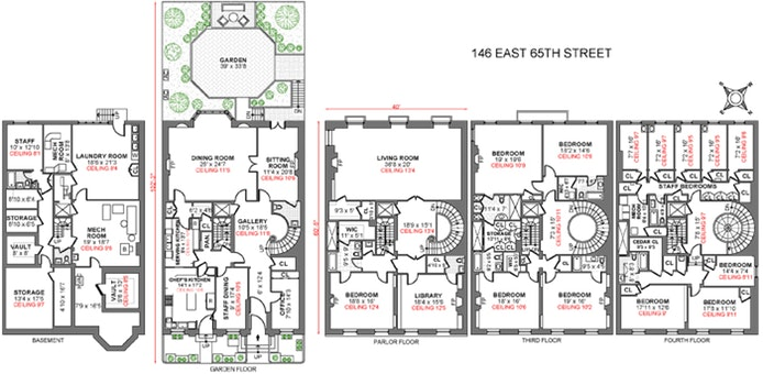 Nyc Townhouse Floor Plans: 146 East 65th Street, Upper East Side, NYC