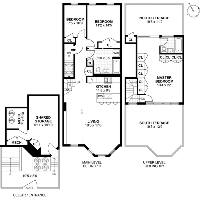 Floor plan of 415 4th St, 3 - Park Slope, New York