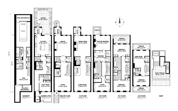 Floor plan of 45 East 74th Street - Upper East Side, New York