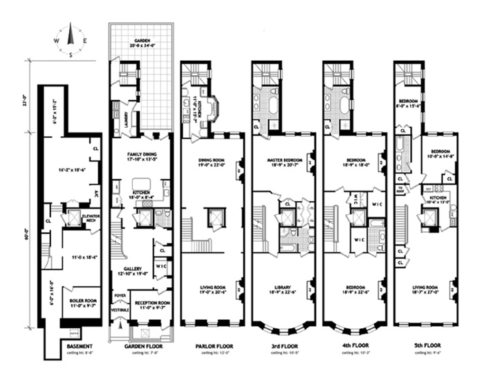 Nyc brownstone floor plans nyc brownstone floor plans for Brownstone house plans