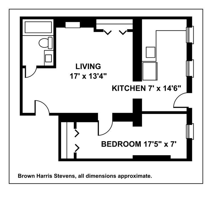 Heights 1 Bed W Private Garden, Brooklyn, New York, $495,000, Web #: 10209835
