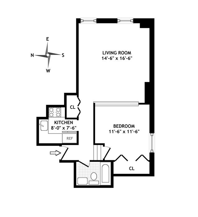 150 Joralemon Street 6F, Brooklyn, New York, $539,000, Web #: 11676787