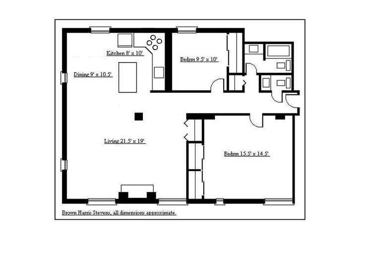 Beautiful Loft-Like 2 Bedroom, Brooklyn, New York, $1,315,000, Web #: 11970861
