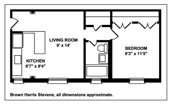 One Bedroom On Pineapple, Brooklyn, New York, $499,000, Web #: 12262190