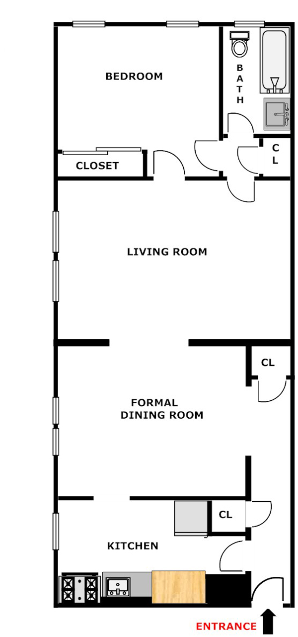 1 Bedroom Plus FDR , Queens, New York, $300,000, Web #: 12962092