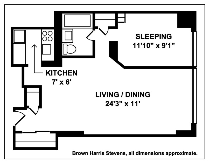 One Bedroom In Murray Hill, Midtown East, NYC, $649,000, Web #: 13058090
