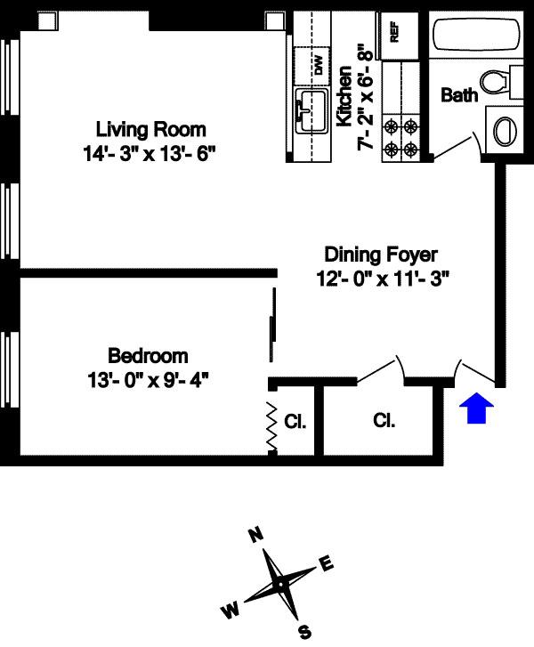 Picture Perfect Prewar One Bedroom, Brooklyn, New York, $440,000, Web #: 1740075