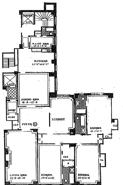 1220 Park Avenue, Upper East Side, NYC, $2,400,000, Web #: 244644