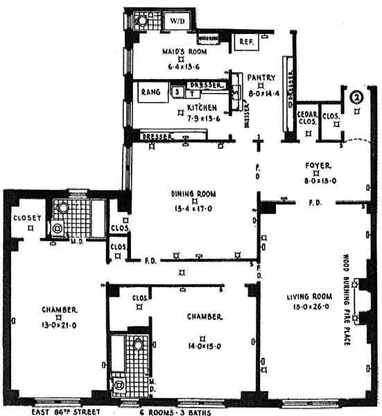 115 East 86th Street, Upper East Side, NYC, $1,335,000, Web #: 251697