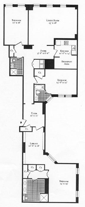 15 East 69th Street, Upper East Side, NYC, $3,322,000, Web #: 264700
