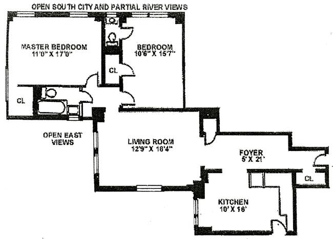 310 West 72nd Street, Upper West Side, NYC, $645,000, Web #: 268139