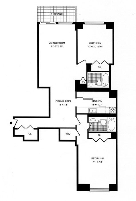 347 West 57th Street, Midtown West, NYC, $690,000, Web #: 272294