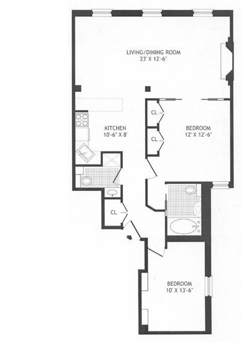 105 East 19th Street, East Village, NYC, $690,000, Web #: 272967
