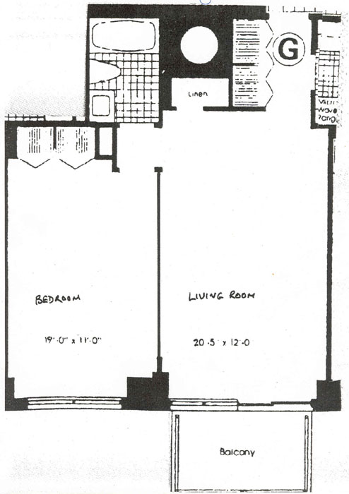 300 East 54th Street, Midtown East, NYC, $340,000, Web #: 274576