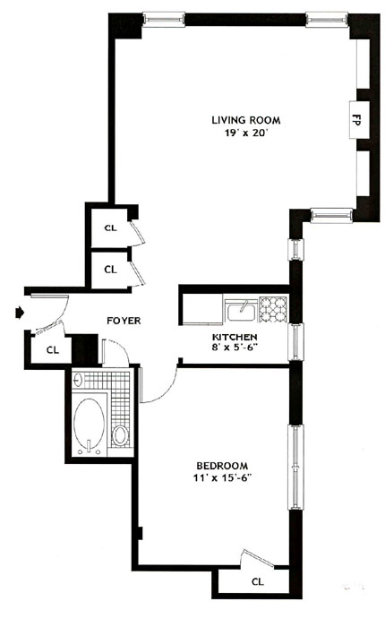 101 West 80th Street, Upper West Side, NYC, $470,000, Web #: 275613