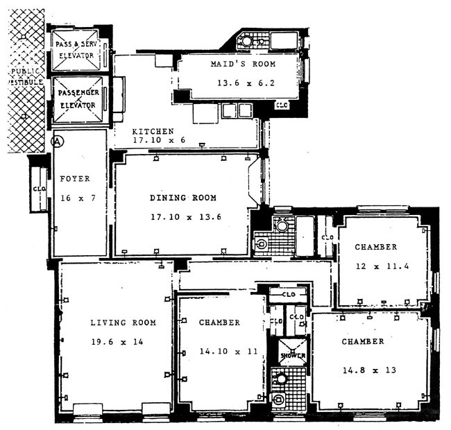 17 East 96th Street, Upper East Side, NYC, $1,675,000, Web #: 282112