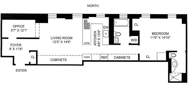 340 West 55th Street, Midtown West, NYC, $550,000, Web #: 287365