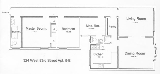 324 West 83rd Street, Upper West Side, NYC, $845,000, Web #: 294436