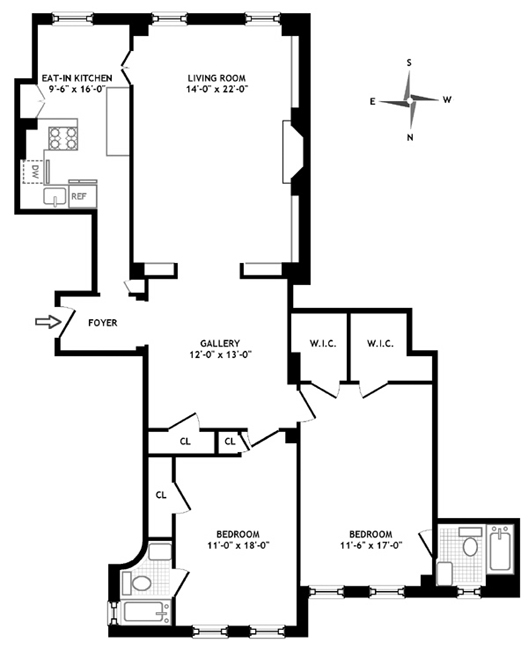 14 Sutton Place South, Midtown East, NYC, $1,200,000, Web #: 303595