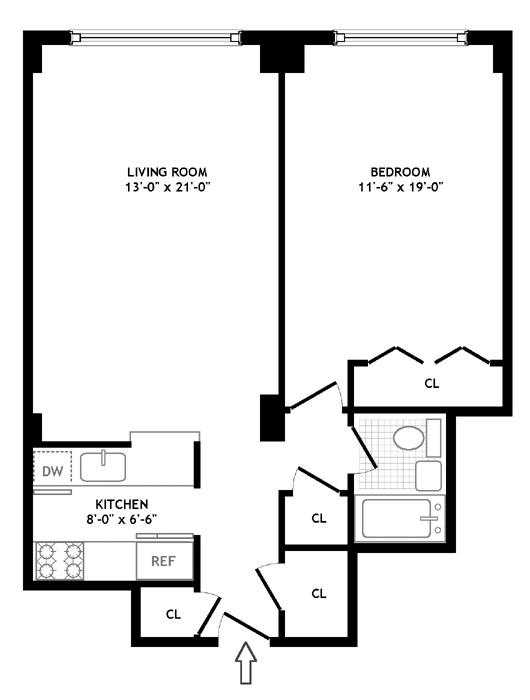 61 Jane Street, West Village, NYC, $725,000, Web #: 309120