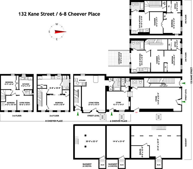 132 Kane Street, Brooklyn, New York, $3,100,000, Web #: 3370202