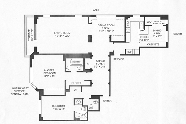 860 Fifth Avenue, Upper East Side, NYC, $2,025,000, Web #: 362990