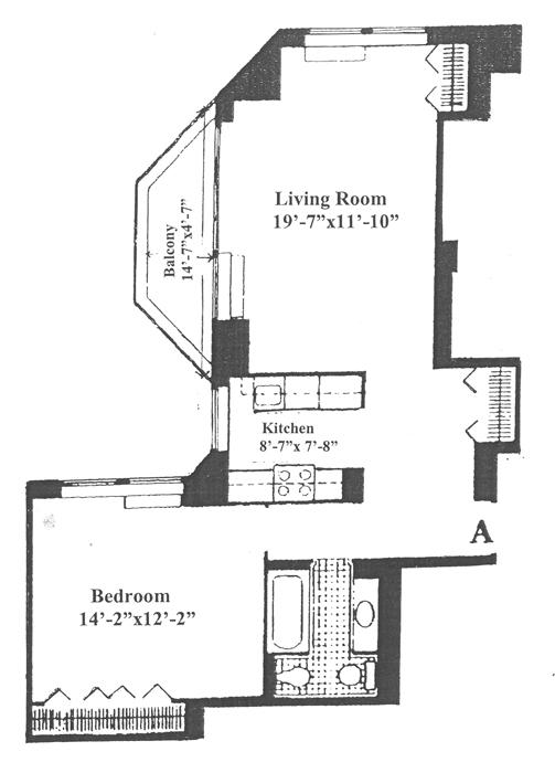 240 East 47th Street, Midtown East, NYC, $640,000, Web #: 366407
