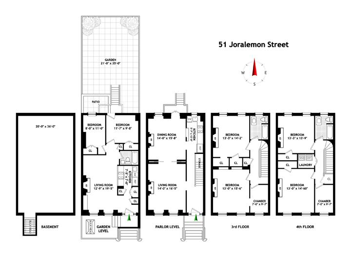 51 Joralemon Street, Brooklyn, New York, $3,735,000, Web #: 3871035