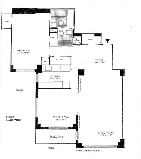 50 Sutton Place South, Midtown East, NYC, $830,000, Web #: 391862