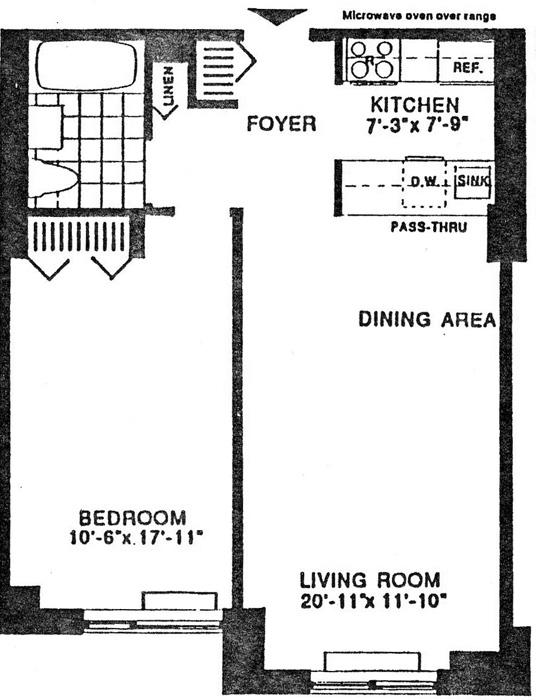 2 South End Avenue, Battery Park City, NYC, $434,000, Web #: 398064