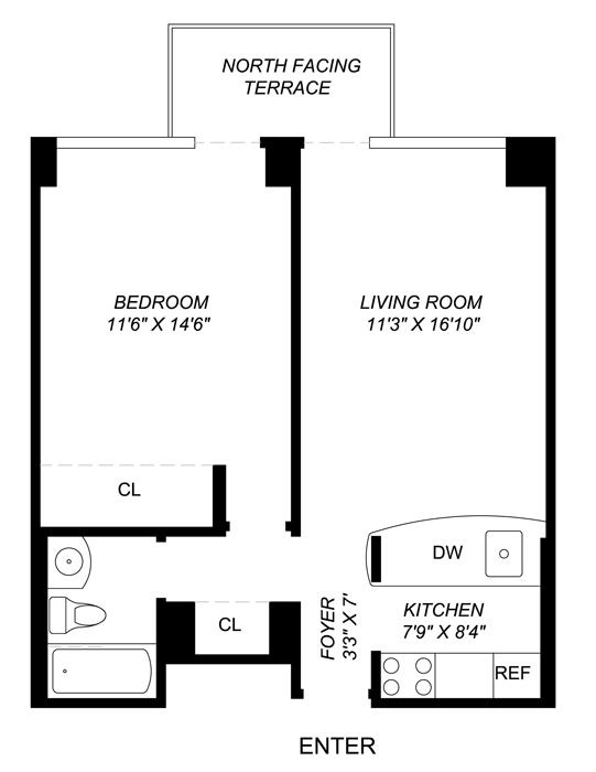 270 West 17th Street, Greenwich Village/Chelsea, NYC, $780,000, Web #: 402158