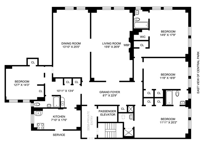 239 Central Park West, Upper West Side, NYC, $3,625,000, Web #: 403386