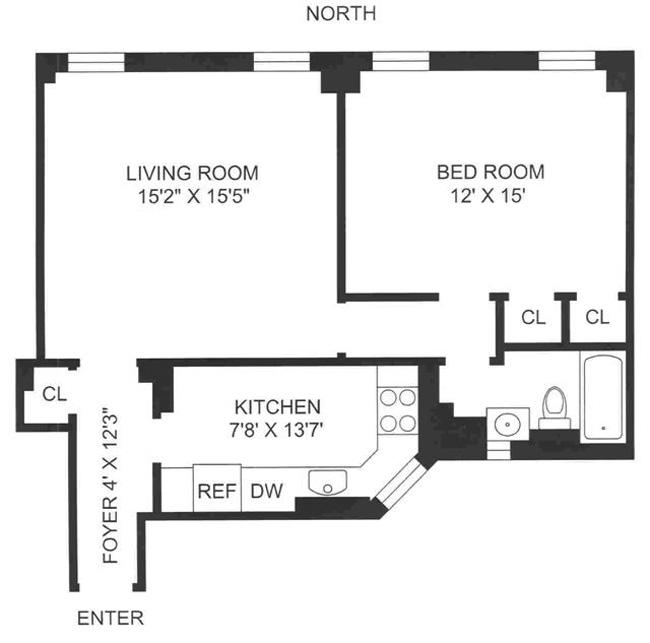 105 West 73rd Street, Upper West Side, NYC, $710,000, Web #: 426450