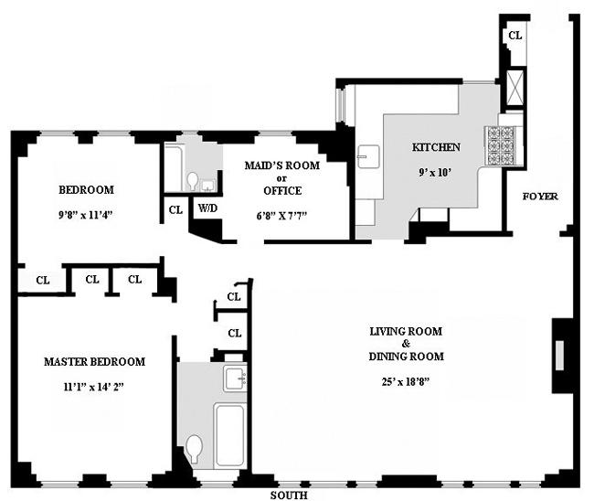 114 East 84th Street, Upper East Side, NYC, $1,350,000, Web #: 443517