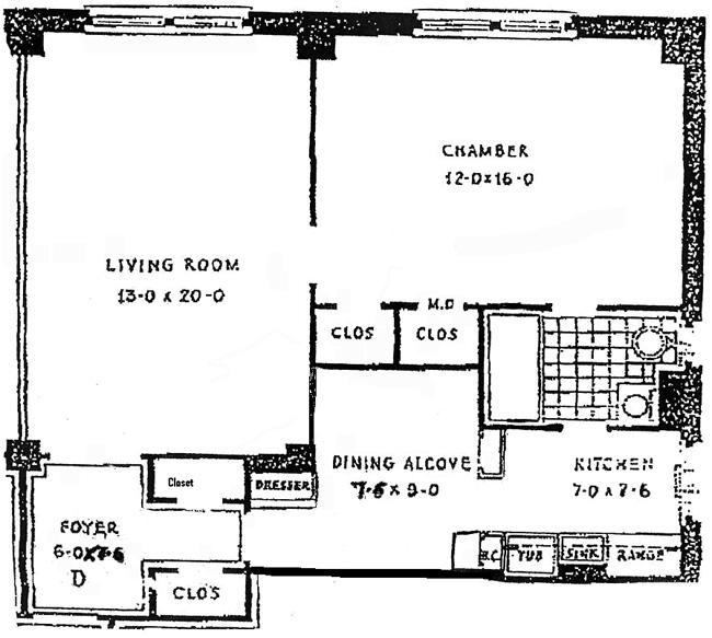 40 West 77th Street, Upper West Side, NYC, $800,000, Web #: 449405