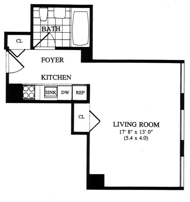 250 East 54th Street, Midtown East, NYC, $440,000, Web #: 451233