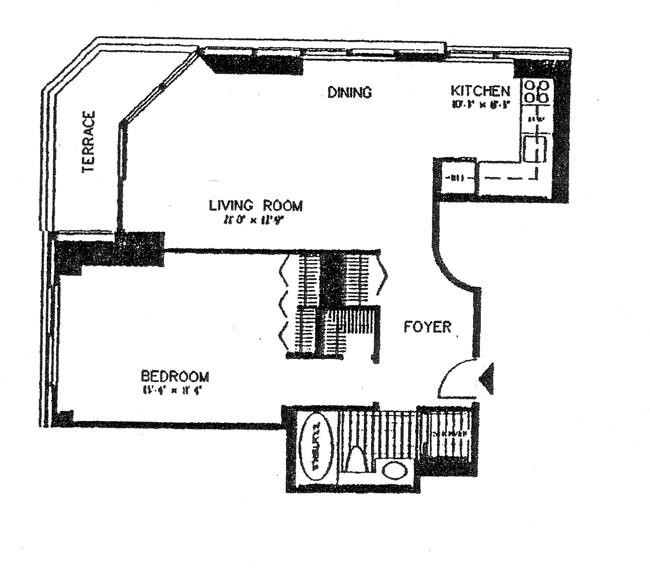 200 East 61st Street, Upper East Side, NYC, $810,000, Web #: 455679