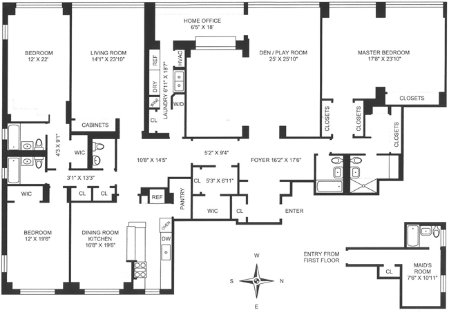 35 Sutton Place, Midtown East, NYC, $2,600,000, Web #: 456981