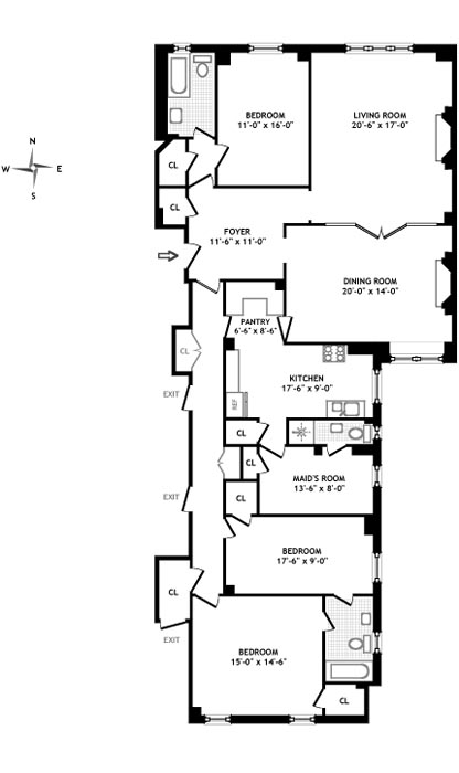 310 West 86th Street, Upper West Side, NYC, $2,450,000, Web #: 458067